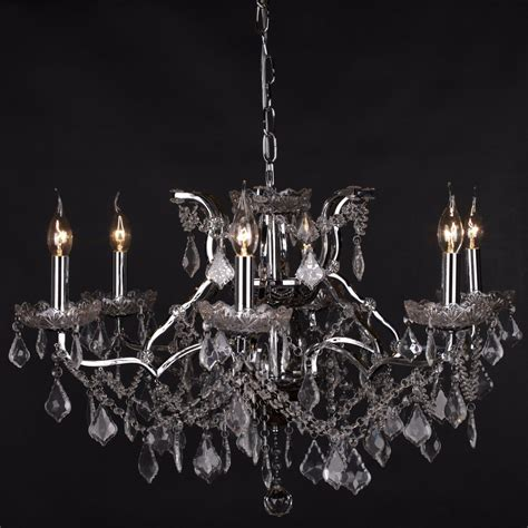 Chandelier Lighting Uk 6 Branch Chrome Shallow Cut Glass Chandelier Furniture La Maison Chic Luxury Interiors