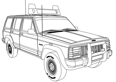 coloring pages jeep grand cherokee jeep grand cherokee coloring pages bltidm