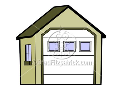 garage cartoon antique car clipart