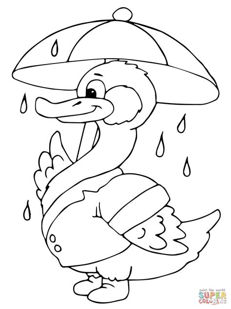 free coloring pages umbrella rain coloring pages