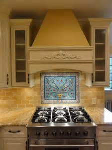 Murals For Kitchen Backsplash by Mike S Peacock And Pomegranate Tree Tile Mural Backsplash