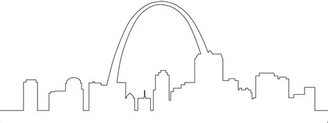 vector stl tutorial st louis arch silhouette free vector silhouettes
