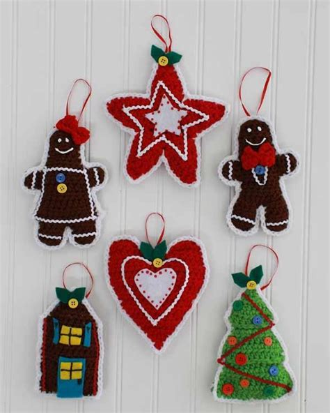 pattern for christmas tree decorations gingerbread christmas tree ornaments crochet pattern