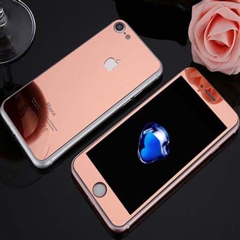 Tempered Glass Mirror For Iphone 6 S Iphone 6 S front back mirror tempered glass screen protector for