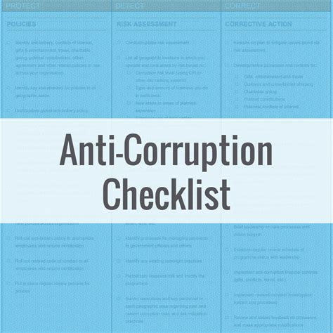 Sle Anti Corruption Risk Assessment Checklist Compliance Next Anti Bribery And Corruption Risk Assessment Template