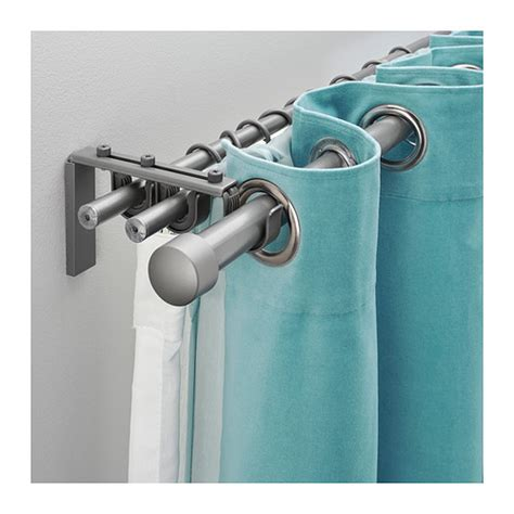 triple curtain rod r 196 cka hugad triple curtain rod combination silver color