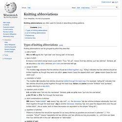 knitting abbreviations k1b arts crafts hobbies pearltrees