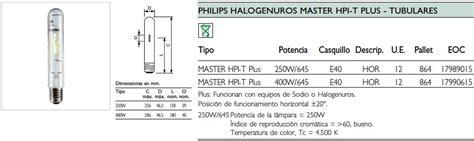 Lu Philips Hpi T Plus 400w philips master hpi t plus 400w 645 e40 slv 12 17990615