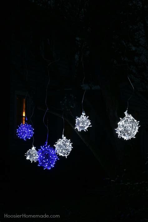 lighted christmas balls diy lighted balls ornament tutorials