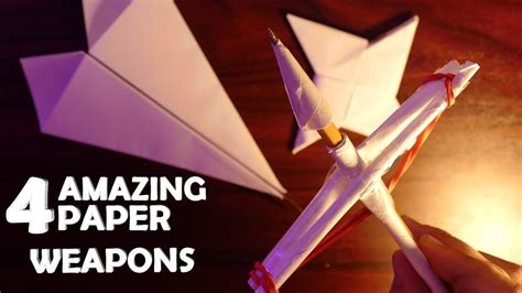 Cool Weapons To Make Out Of Paper - cool weapons to make out of paper 28 images 4 amazing