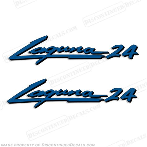 sea ray boats discontinued sea ray quot laguna 24 quot boat decals 2 color