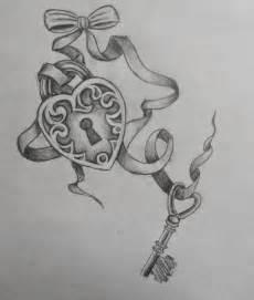 bow heart lock n key tattoo design tattoobite com