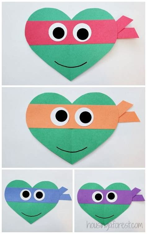 valentines day turtle valentines crafts for and turtles on