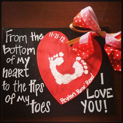 baby footprint craft this would be so for