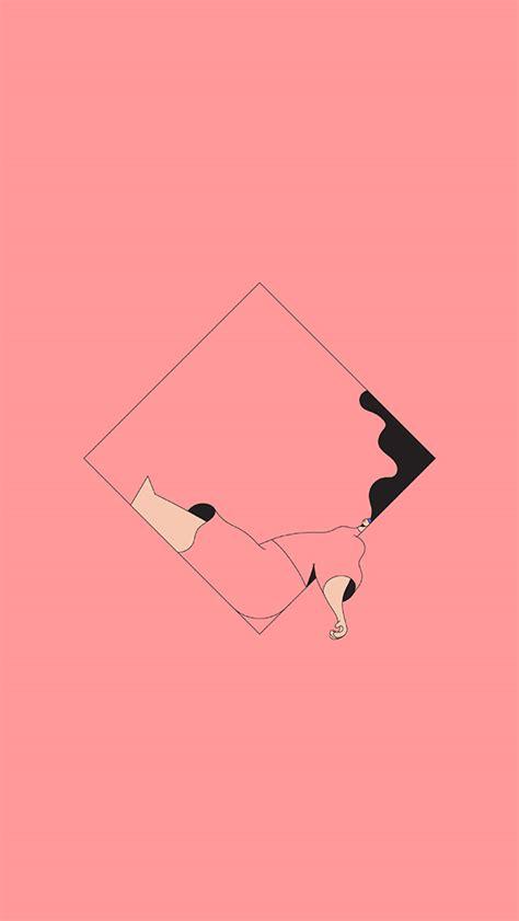 bb minimal drawing pink illustration art wallpaper