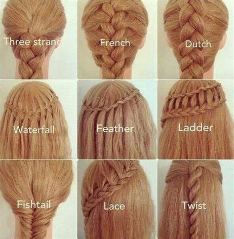 Braid Names Cornrolls | different types of braids and their names braided