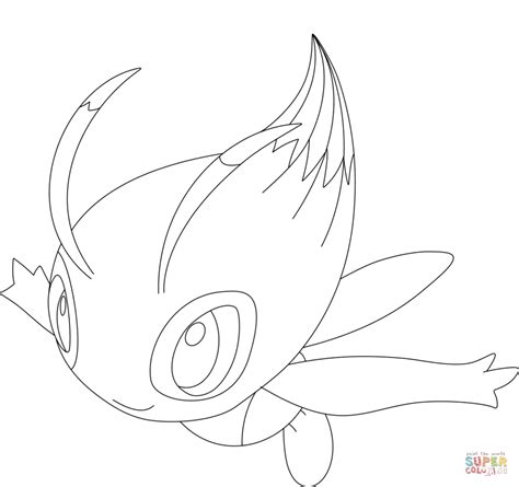 pokemon coloring pages celebi celebi coloring page free printable coloring pages