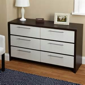 bedroom drawers simple living two tone six drawer chest contemporary