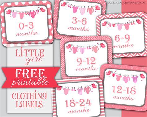 printable fabric labels girl printable