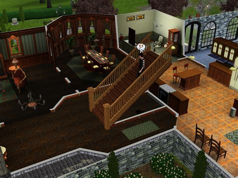1 Story House Plans With Basement image goth home 3 jpg the sims wiki fandom powered