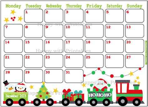 printable christmas december 2015 calendar pdf 7 best images of 8 x 11 printable calendar 2015 dec