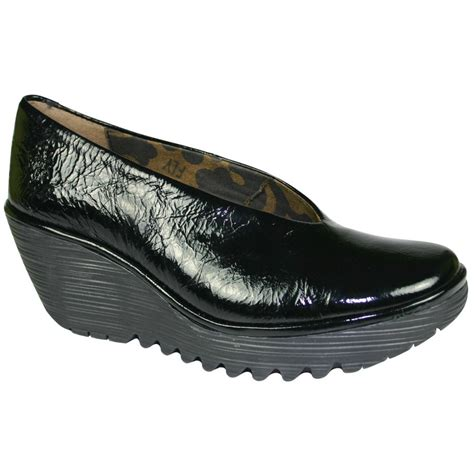 fly yaz black patent leather shoes footwear from voila uk