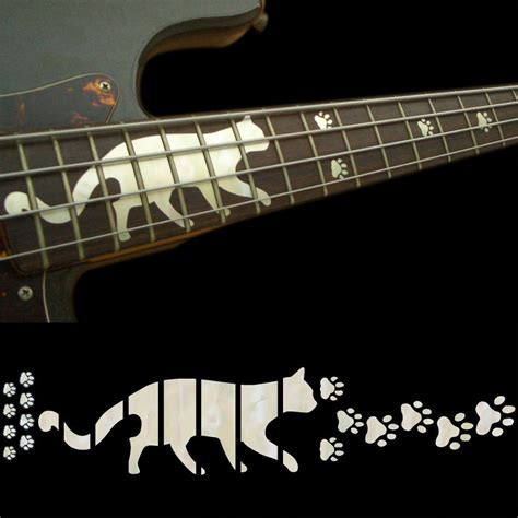 Inlay White aliexpress buy fretboard markers inlay sticker decals for bass guitar cats foot print