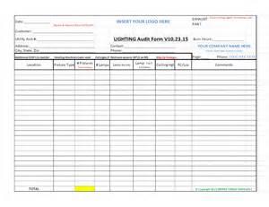 audit procedure template free led lighting audit form procedures check list