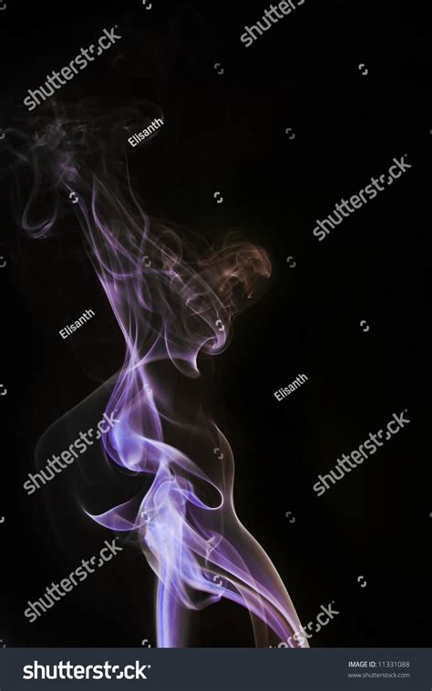 colored cigarette smoke colored blueyellow cigarette smoke stock photo 11331088