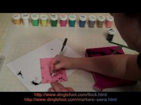 how to use flocking powder for scrapbooking youtube