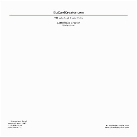 Business Letterhead Creator Software Letterhead Style 9 Bizcardcreator