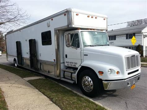 motorhome with garage used rvs freightliner motorhome with 20 ft garage for sale