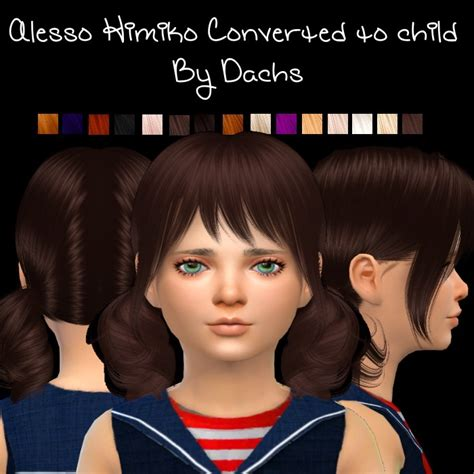 sims 4 cc for kids hair sims and sims houses by dachs alesso himiko for children