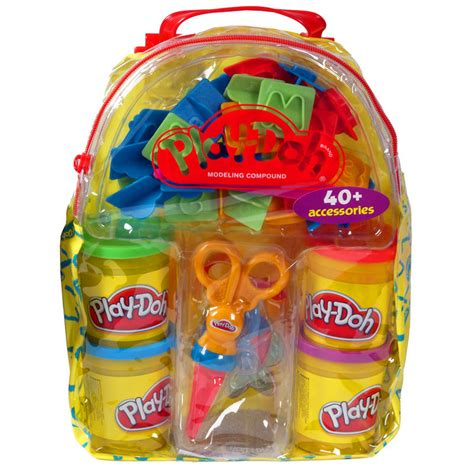 Play Doh Bag playdoh bag back pack with 520g play dough tubs modelling