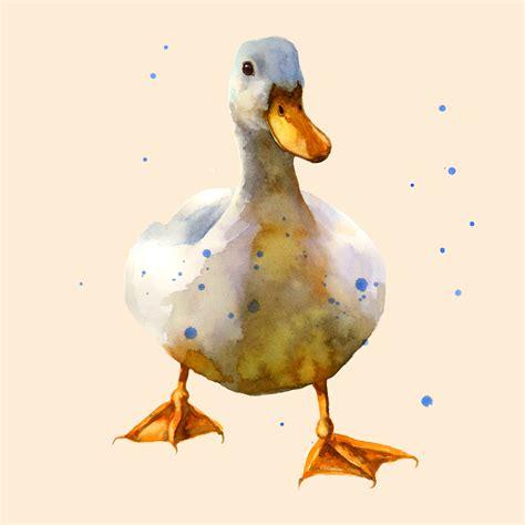 watercolor duck tutorial hello ducky alison fennell art