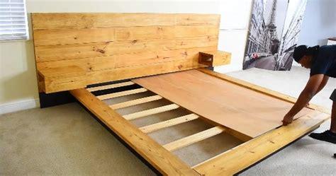 Pallet Platform Bed Diy Platform Bed With Floating Night Stands Sia Magazine