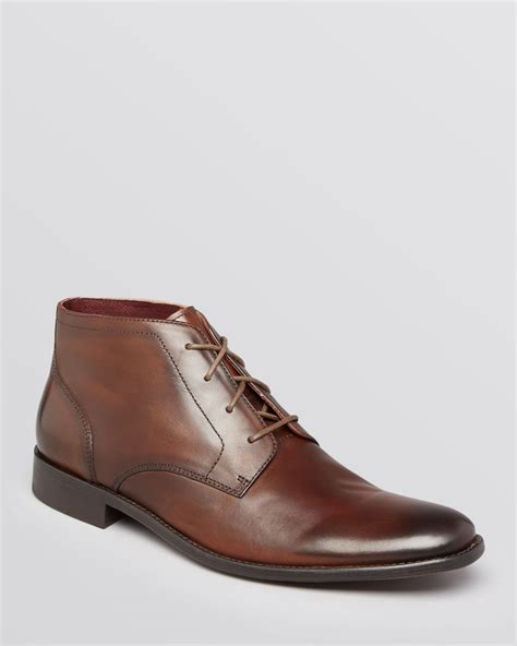 varvatos boots varvatos luxe chukka boots in brown for lyst