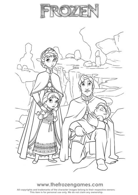 frozen coloring pages baby elsa frozen royal family frozen games