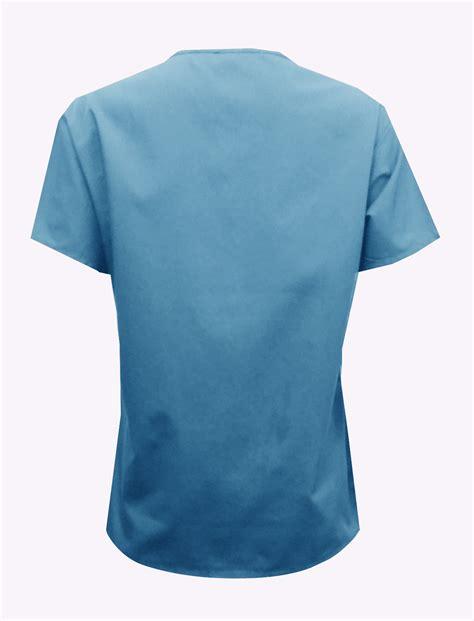 bkmds06t ceil blue scrub top