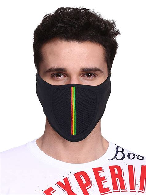 big tree cabkxxct cotton  face mask  black