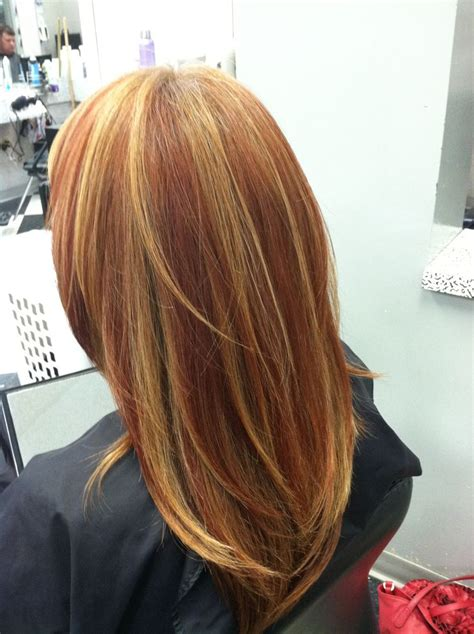 blonde with copper lowlights highlights copper and lowlights hair hairstyles pinterest