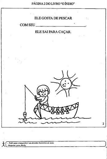 Atividades para colorir infantil: LIVRO DO ÍNDIO - PARA