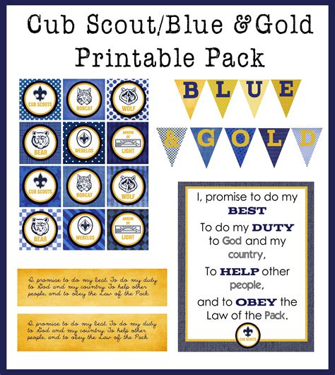 Cub Scout Blue And Gold Program Template by Blue Gold Printable Pack