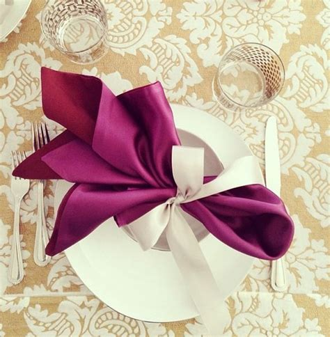 Folding Paper Napkins With Ribbon - best 25 wedding napkin folding ideas on