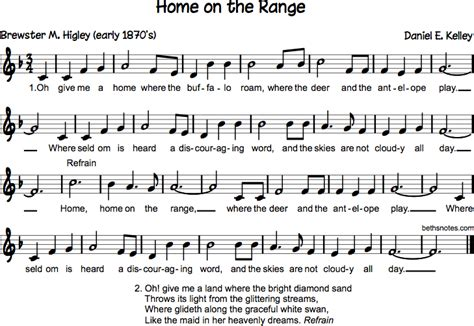 Home On The Range Lyrics by Home On The Range Beth S Notes