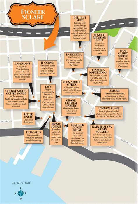 seattle map pioneer square pioneer square lunch spots map seattle washington