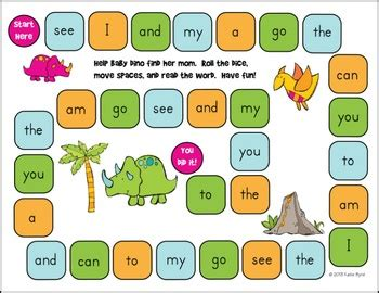 printable sight word board games 10 images about sight word games on pinterest reading