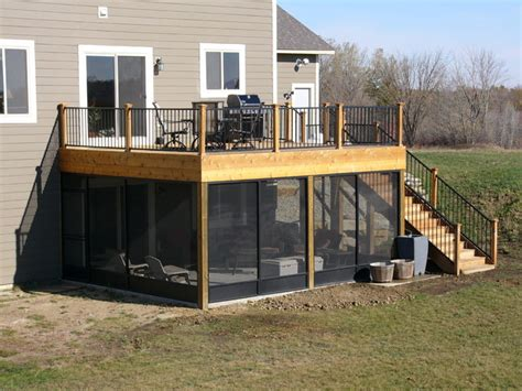 Screen Porch Deck, Northfield   Traditional   Deck