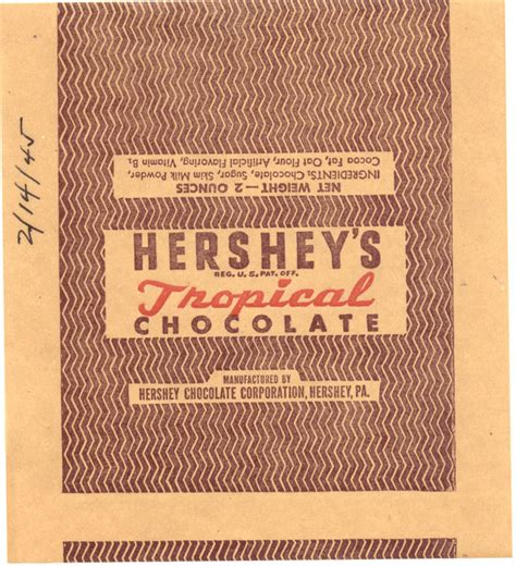 Hershey History Essay by Ww2 Chocolate Bar Images