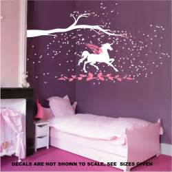 wall art for girls bedroom unicorn fantasy girls bedroom wall art sticker vinyl decal